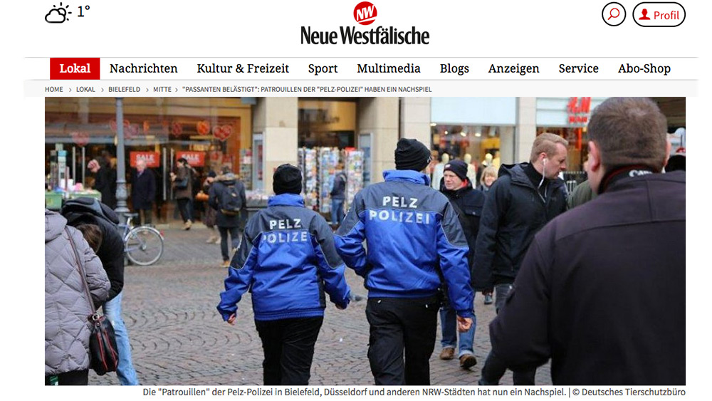 Pelz Polizei Fur Germany
