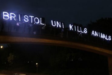 bristol uni kills animals sign