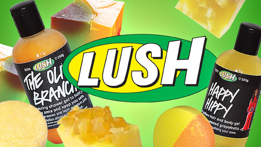 Lush Not Vegan bottles