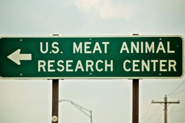 US MEAT RESEARCH CENTER sign