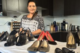 nicole camphaug with sealskin shoes