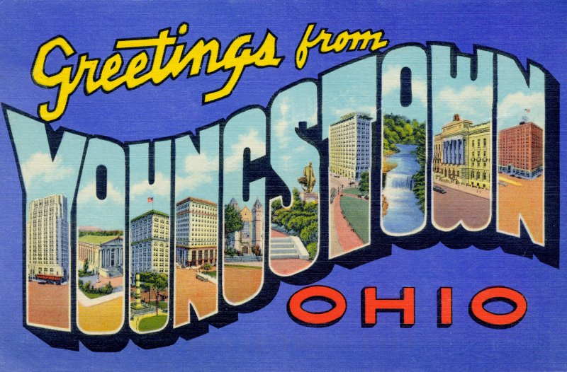 greetings from younstown ohio logo