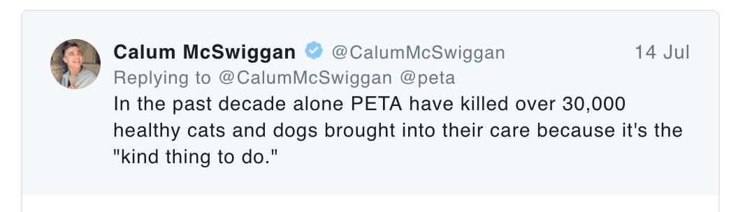 real faces of animal rights, Callum McSwigan