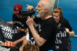 PETA, SeaWorld, JamesCromwell, PETAprotests, real faces of animal rights